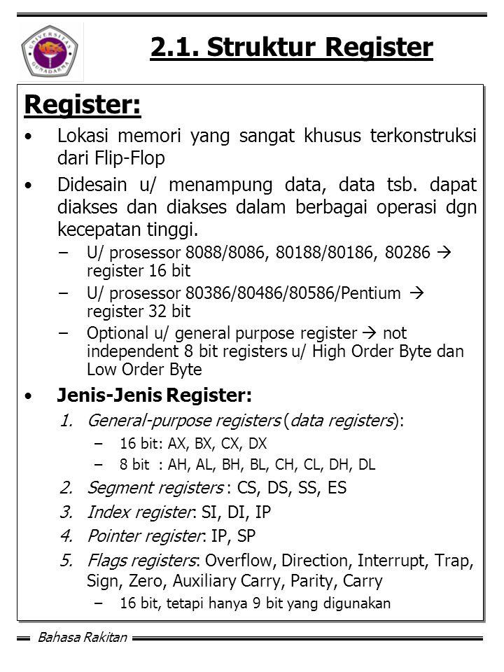 2.1. Struktur Register Register: