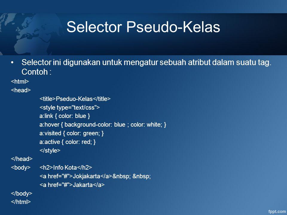 Selector Pseudo-Kelas
