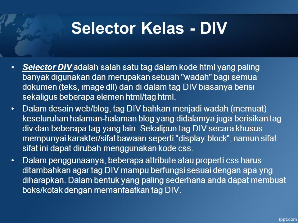 Selector Kelas - DIV