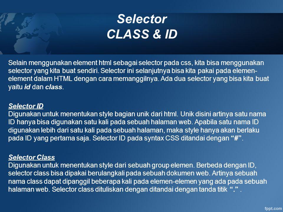Selector CLASS & ID