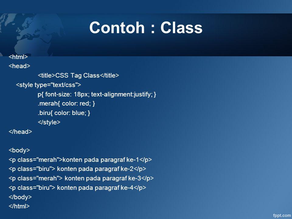 Contoh : Class