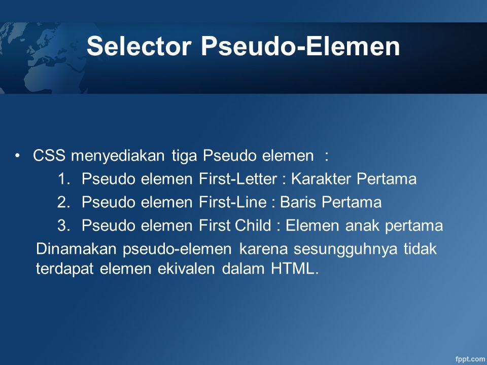 Selector Pseudo-Elemen
