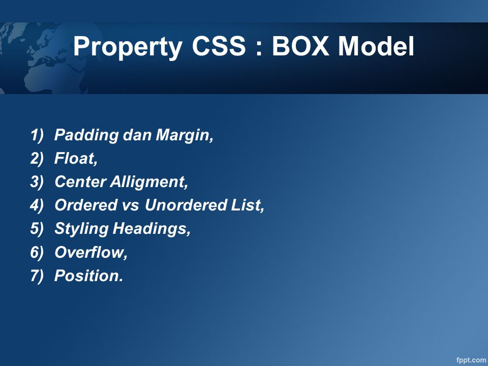 Property CSS : BOX Model