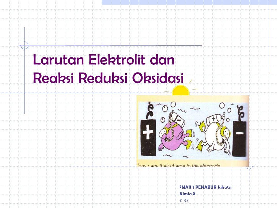 Larutan Elektrolit dan Reaksi Reduksi Oksidasi