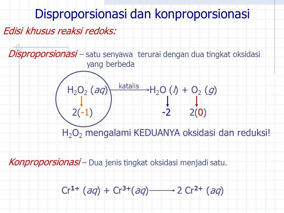 Disproporsionasi dan konproporsionasi