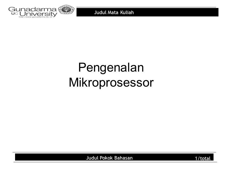 Pengenalan Mikroprosessor
