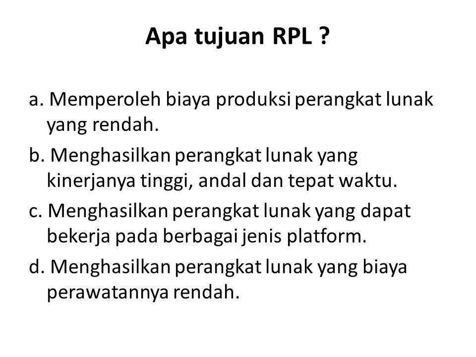 Apa tujuan RPL