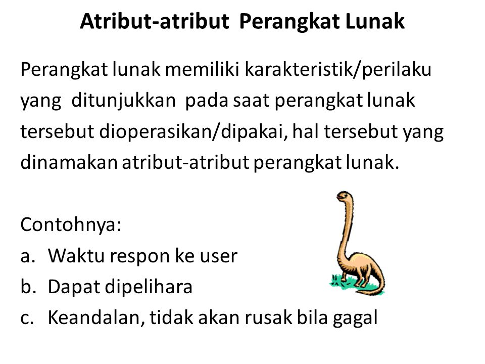 Atribut-atribut Perangkat Lunak