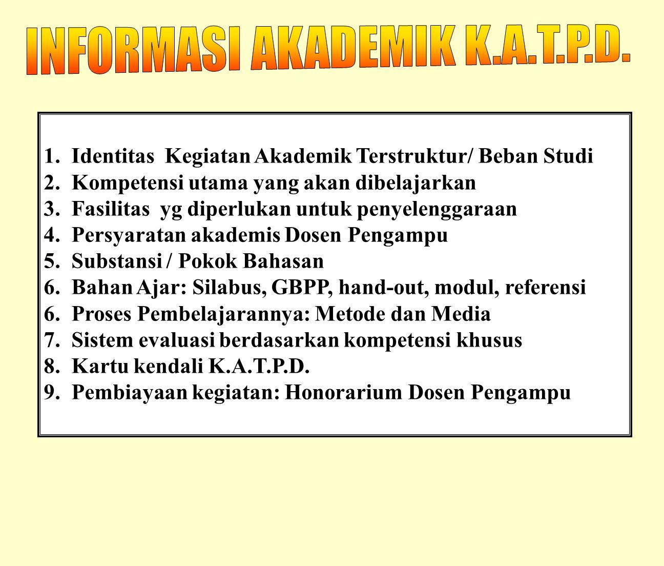 INFORMASI AKADEMIK K.A.T.P.D.