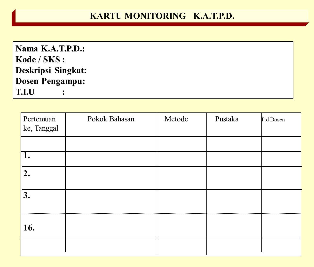 KARTU MONITORING K.A.T.P.D.