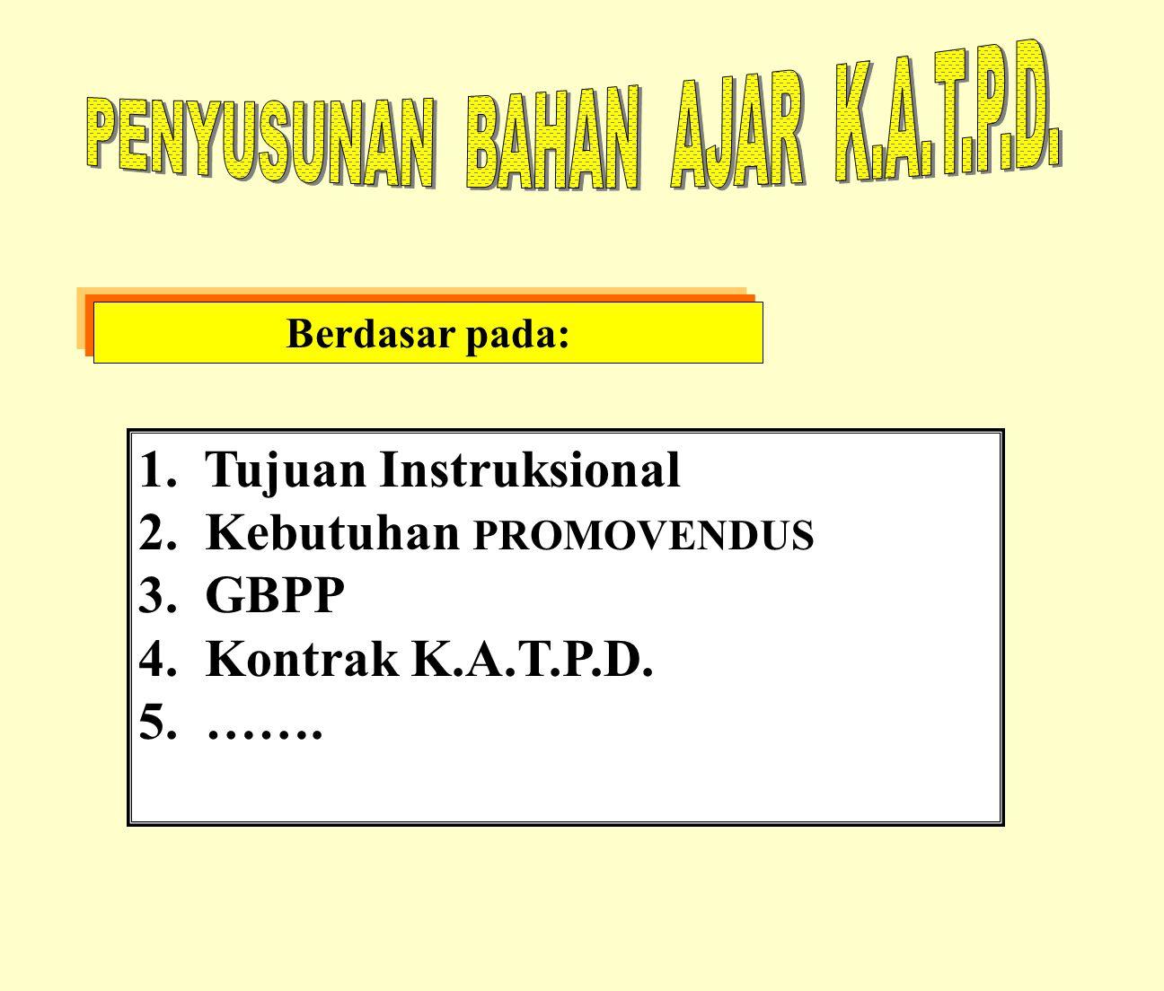 PENYUSUNAN BAHAN AJAR K.A.T.P.D.