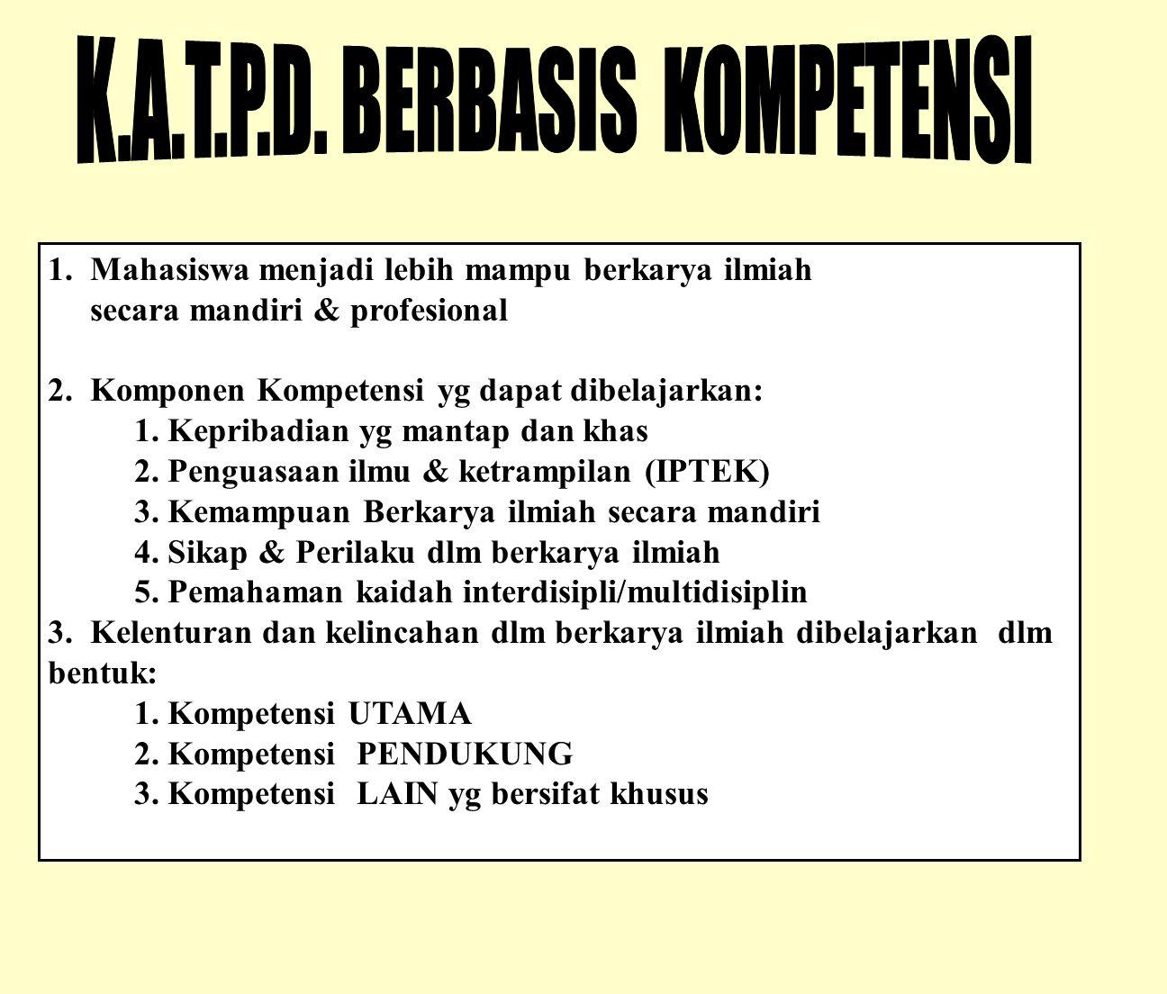 K.A.T.P.D. BERBASIS KOMPETENSI