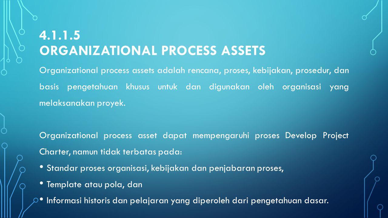 4.1.1.5 Organizational process assets