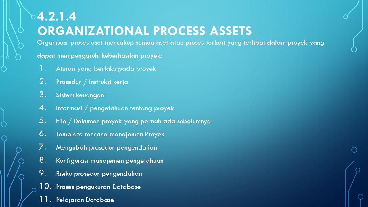 4.2.1.4 Organizational Process Assets