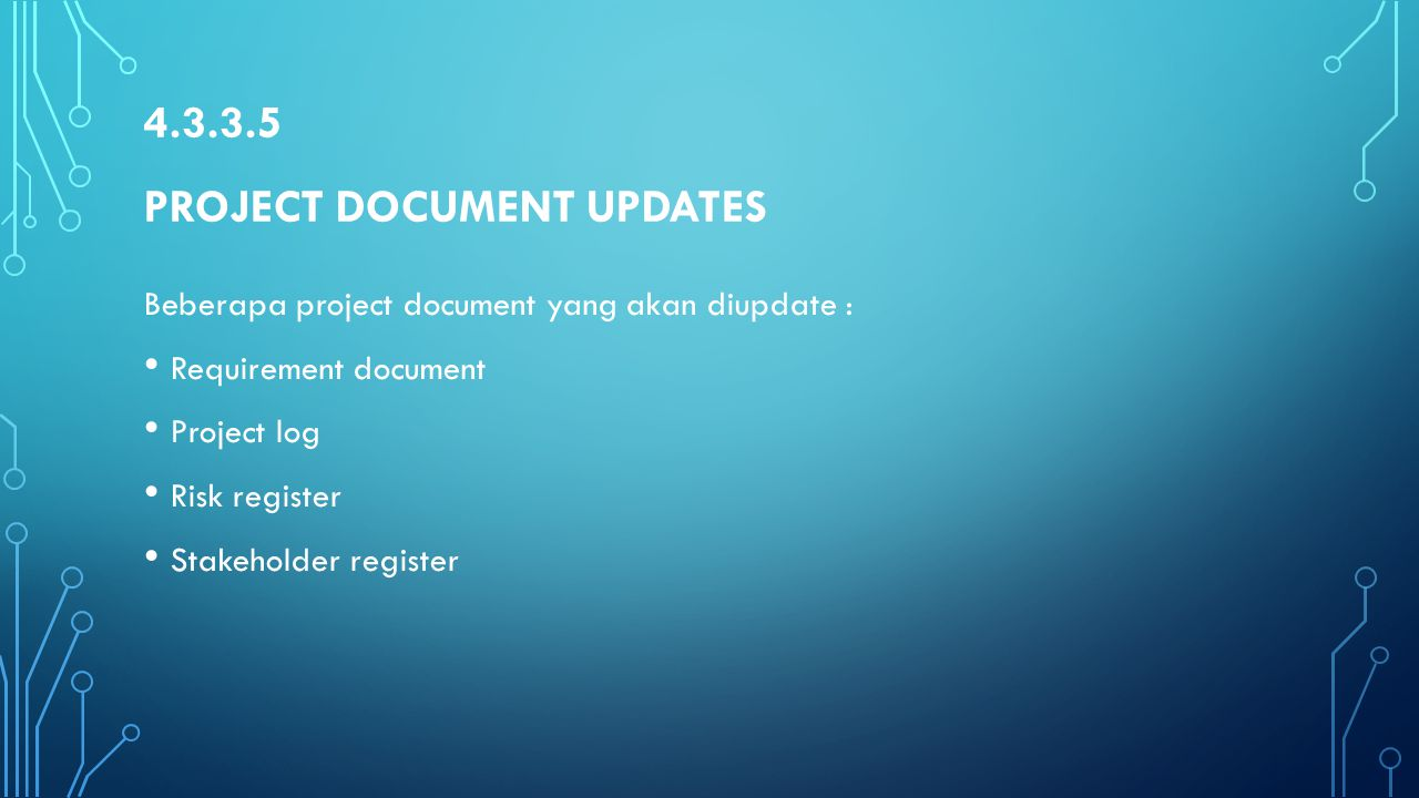 4.3.3.5 Project document updates