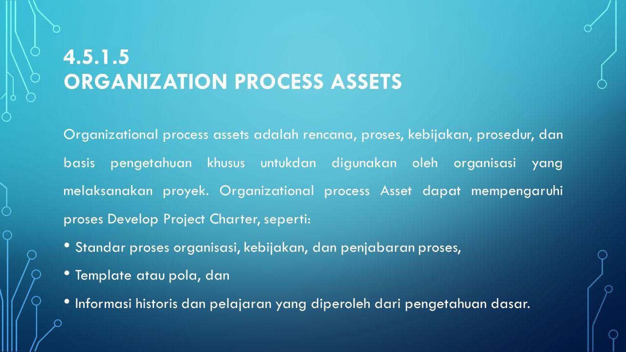 4.5.1.5 Organization Process Assets