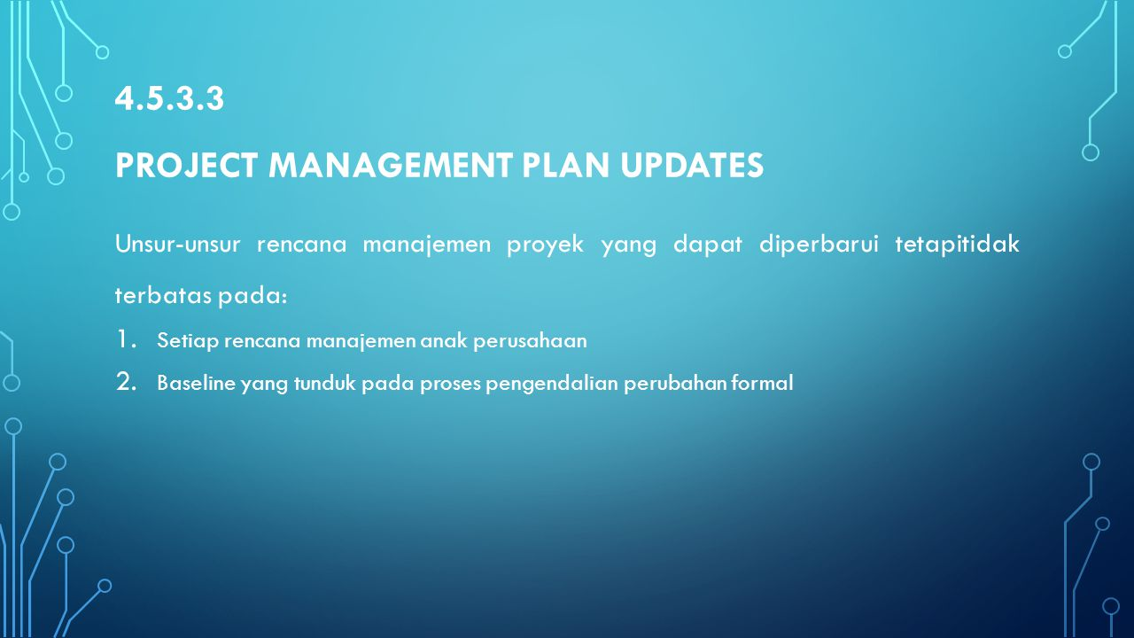 4.5.3.3 Project Management Plan Updates