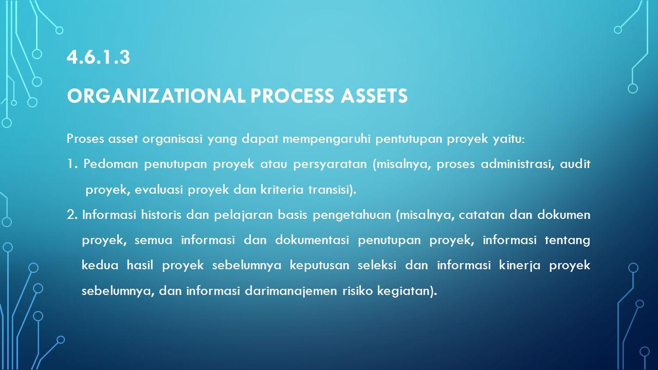 4.6.1.3 Organizational Process Assets