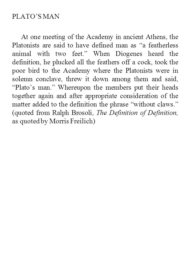 PLATO'S MAN