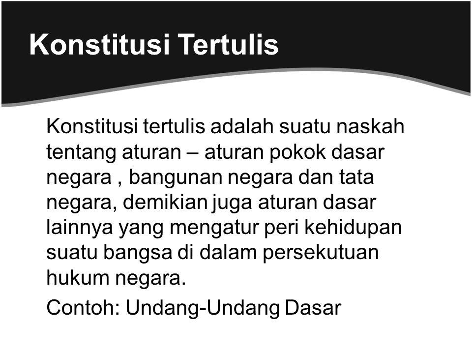 Konstitusi Tertulis