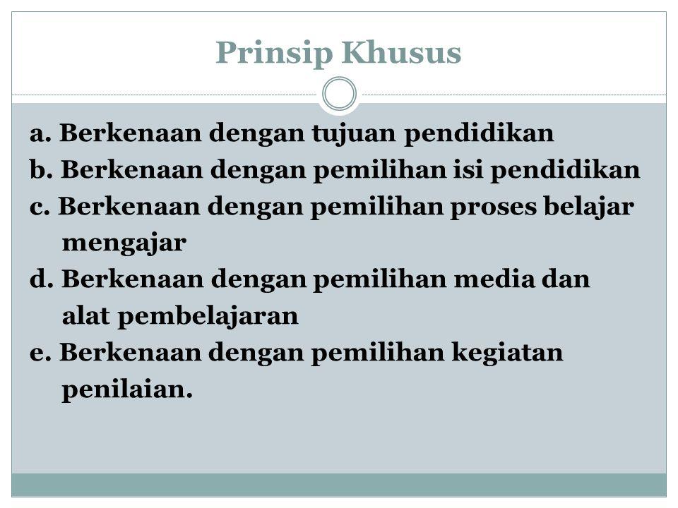 Prinsip Khusus