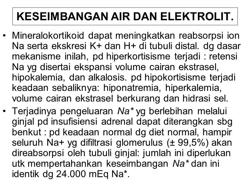 KESEIMBANGAN AIR DAN ELEKTROLIT.