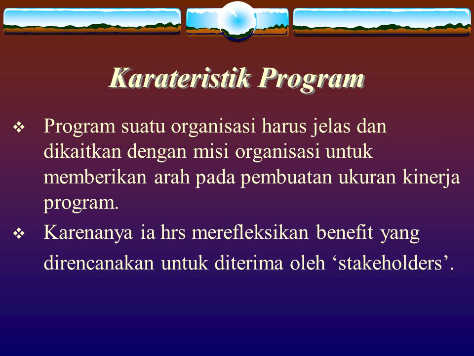 Karateristik Program