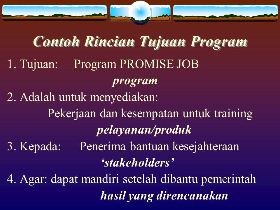 Contoh Rincian Tujuan Program