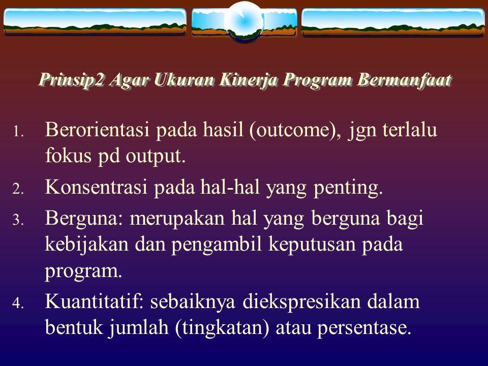 Prinsip2 Agar Ukuran Kinerja Program Bermanfaat