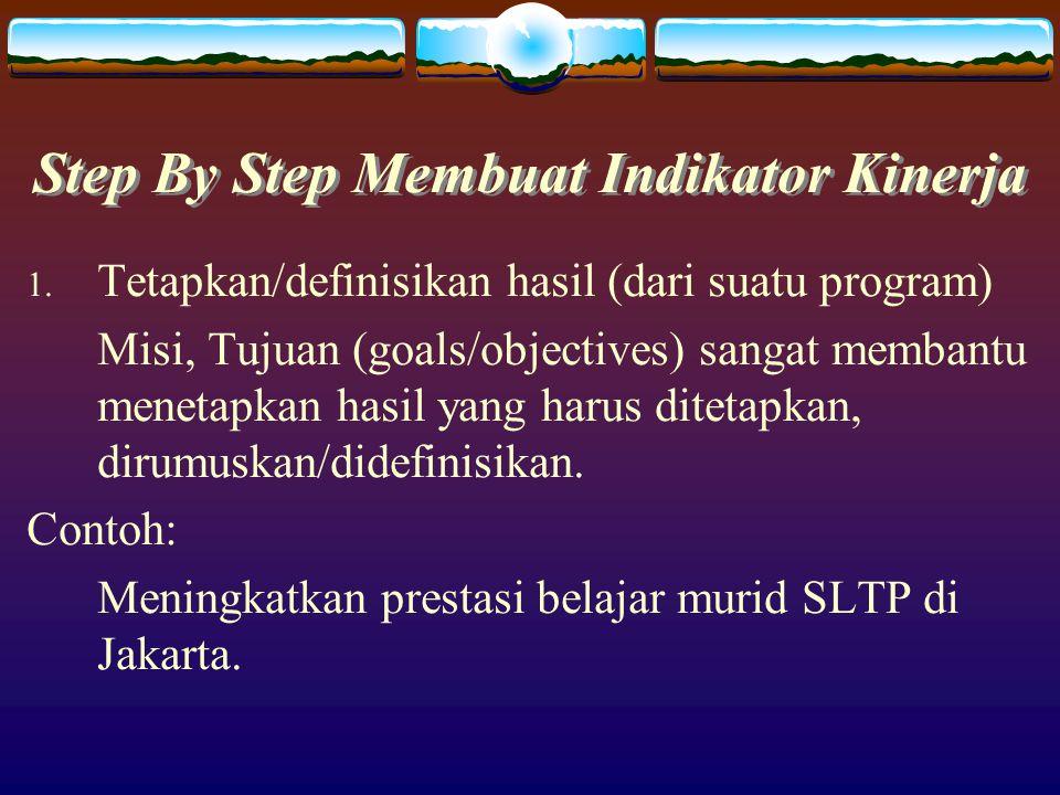 Step By Step Membuat Indikator Kinerja