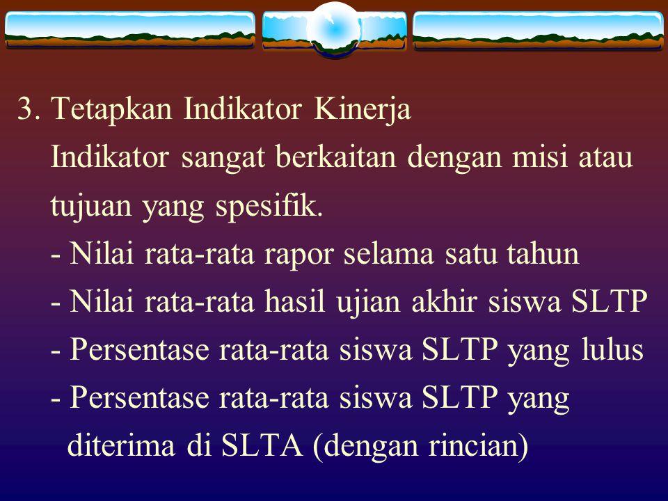 3. Tetapkan Indikator Kinerja