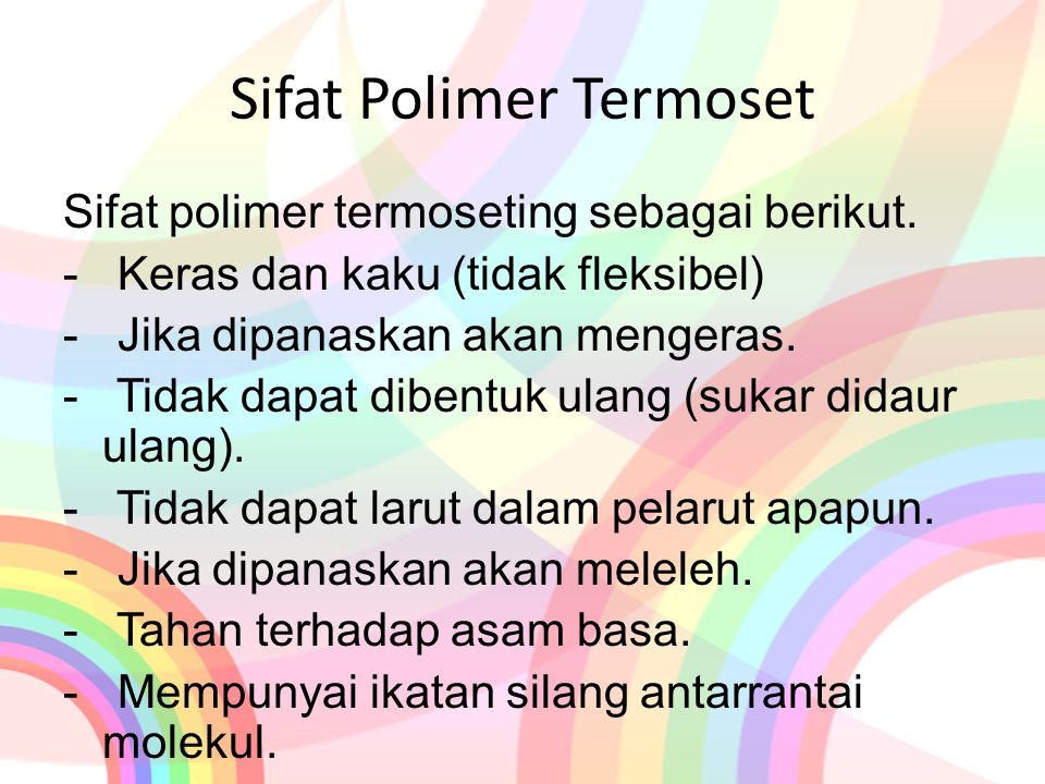 Sifat Polimer Termoset