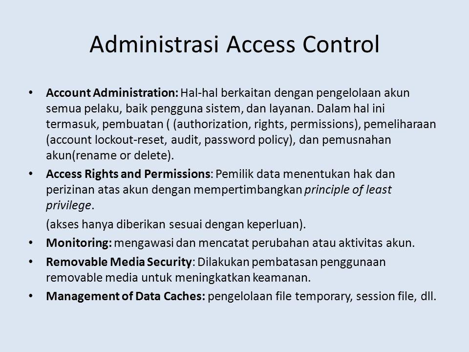 Administrasi Access Control