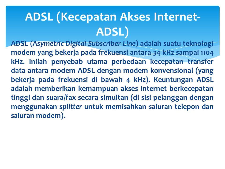 ADSL (Kecepatan Akses Internet-ADSL)