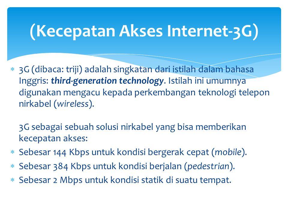 (Kecepatan Akses Internet-3G)