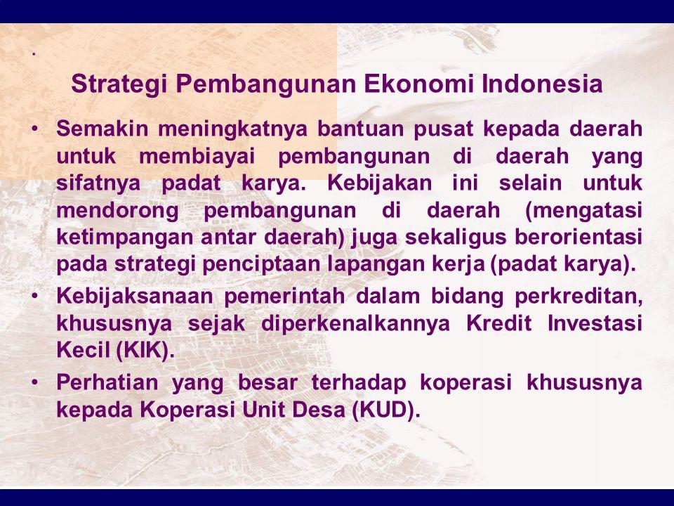 Strategi Pembangunan Ekonomi Indonesia