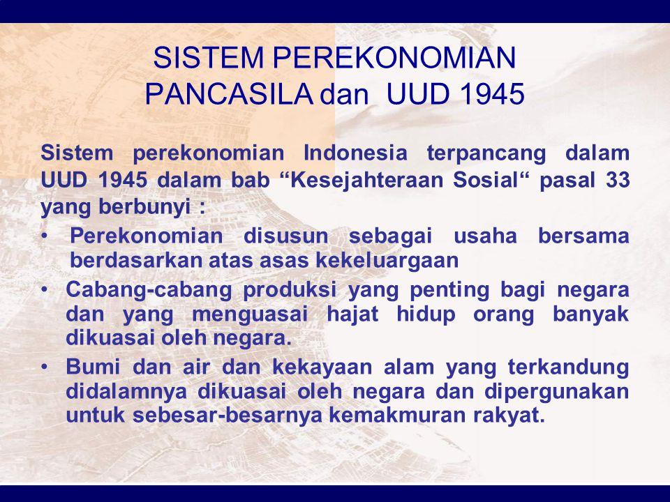 SISTEM PEREKONOMIAN PANCASILA dan UUD 1945