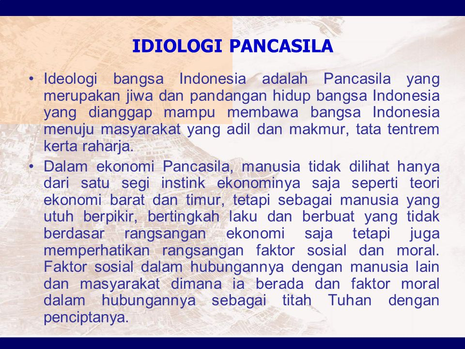 IDIOLOGI PANCASILA