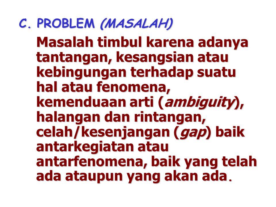 C. PROBLEM (MASALAH)