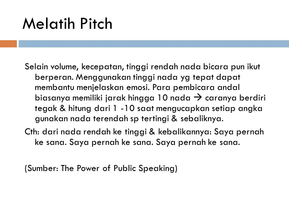 Melatih Pitch