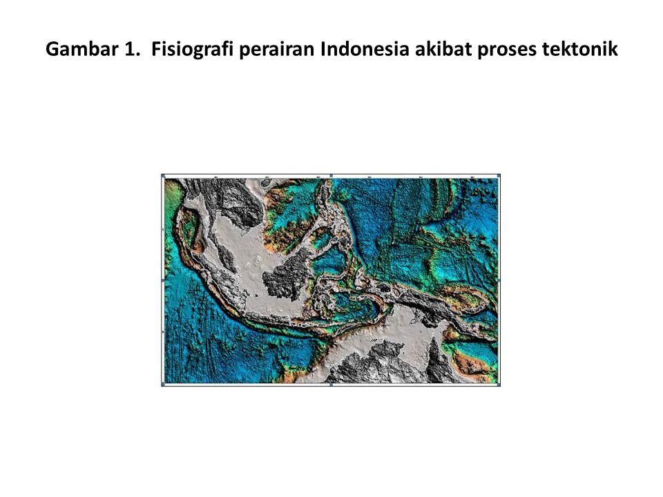 Gambar 1. Fisiografi perairan Indonesia akibat proses tektonik