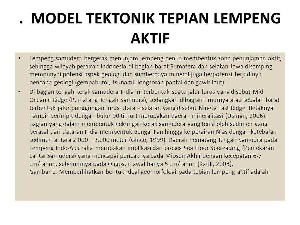 . MODEL TEKTONIK TEPIAN LEMPENG AKTIF