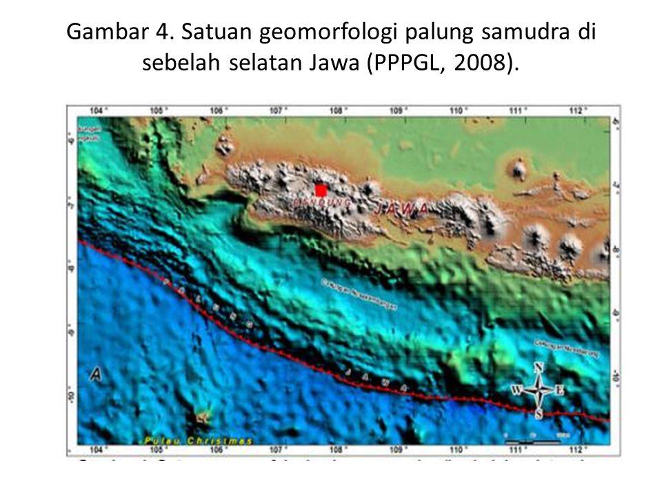 Gambar 4. Satuan geomorfologi palung samudra di sebelah selatan Jawa (PPPGL, 2008).