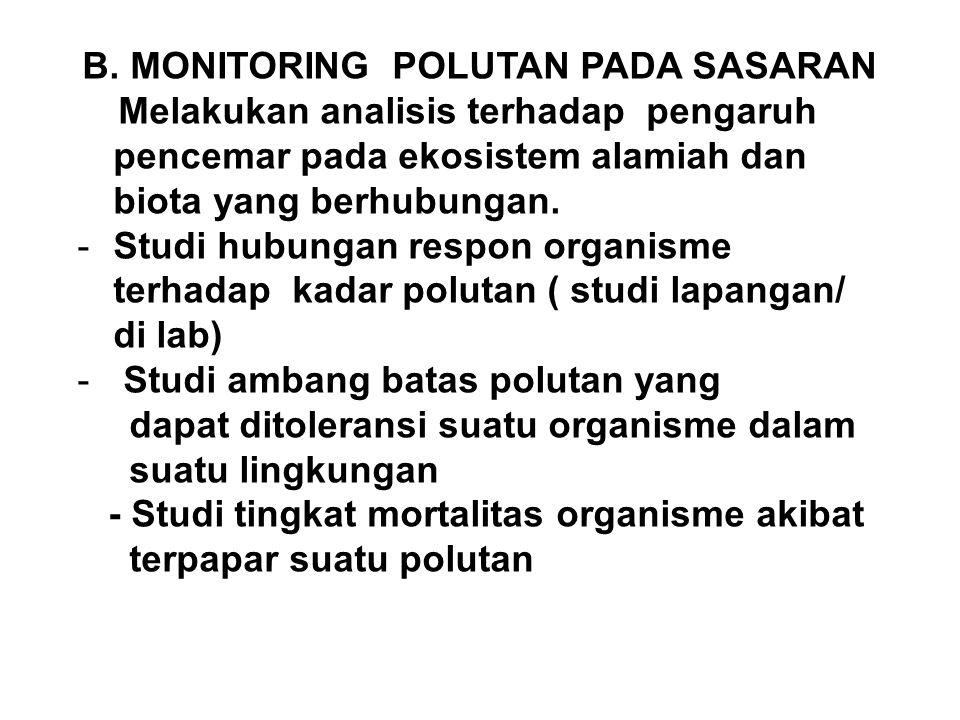 B. MONITORING POLUTAN PADA SASARAN