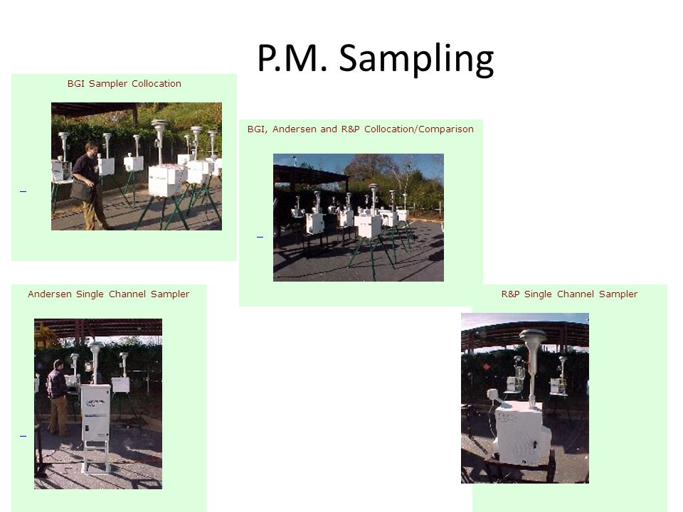 P.M. Sampling BGI Sampler Collocation
