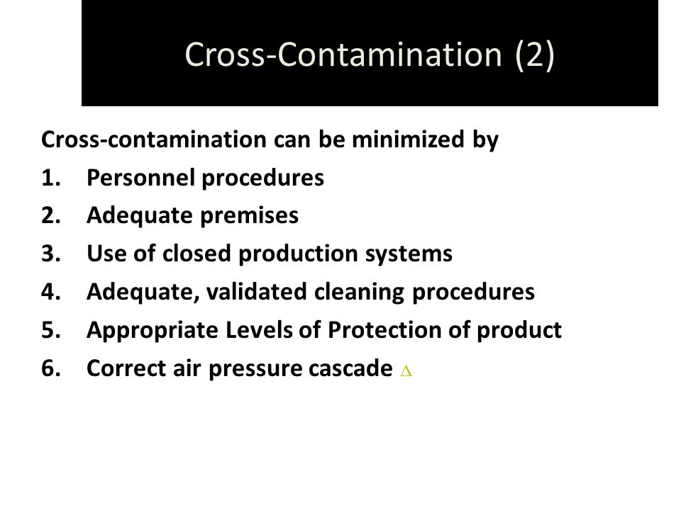 Cross-Contamination (2)