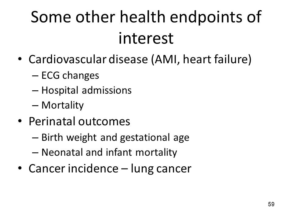 Some other health endpoints of interest