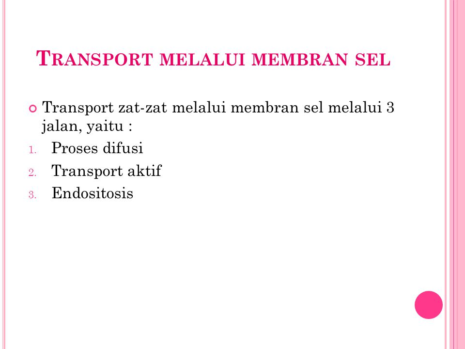 Transport melalui membran sel