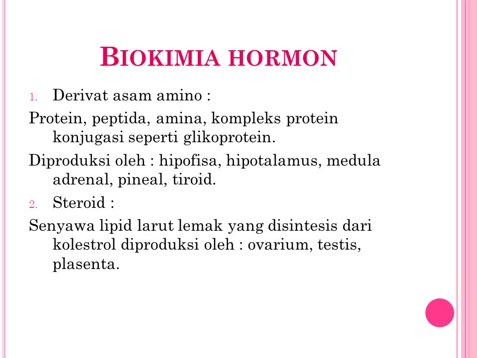 Biokimia hormon Derivat asam amino :