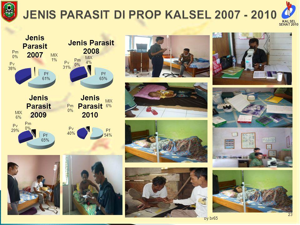 JENIS PARASIT DI PROP KALSEL 2007 - 2010